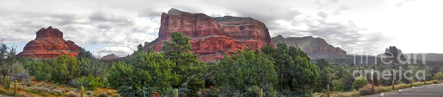 Sedona Arizona Photograph - Sedona Arizona Bell Rock Panorama by Gregory Dyer