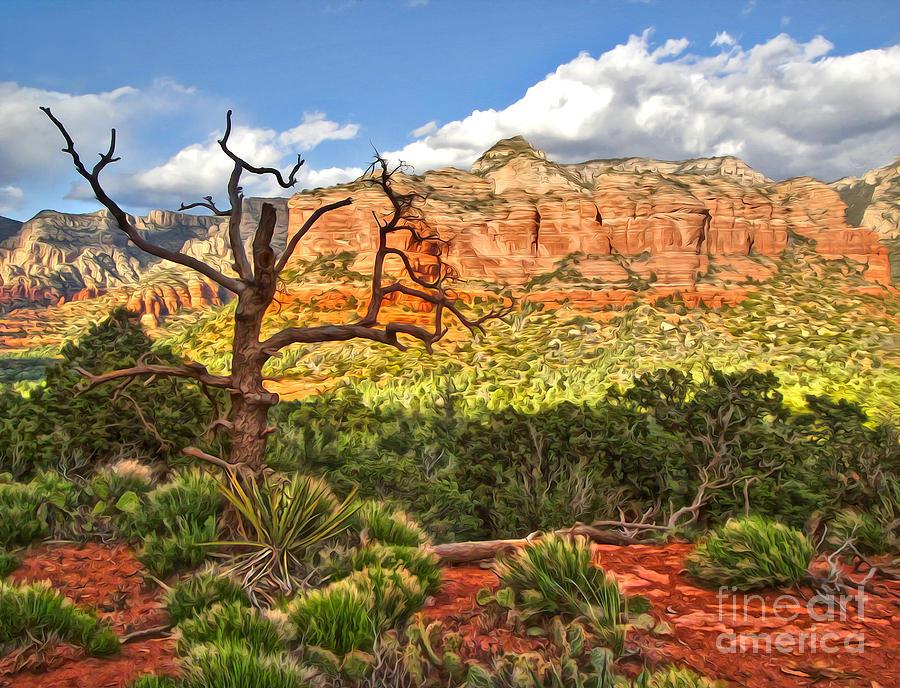 Sedona Arizona Photograph - Sedona Arizona Dead Tree - 03 by Gregory Dyer