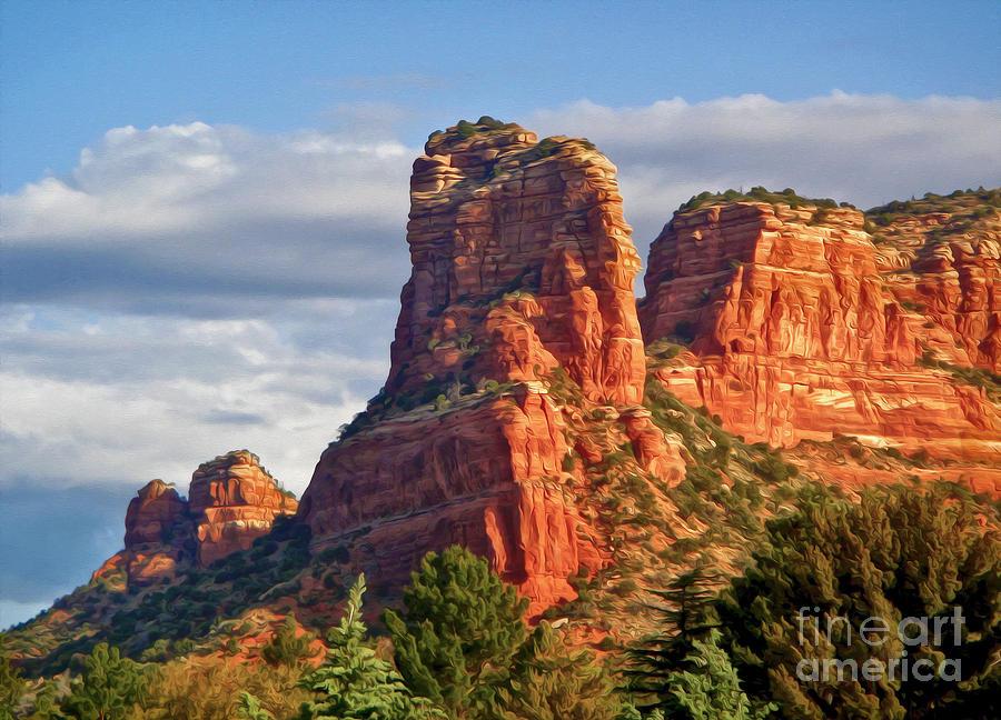 Sedona Arizona Photograph - Sedona Arizona Mountain Peak by Gregory Dyer