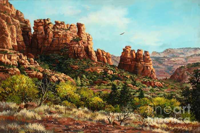 Sedona Calls Painting by W  Scott Fenton