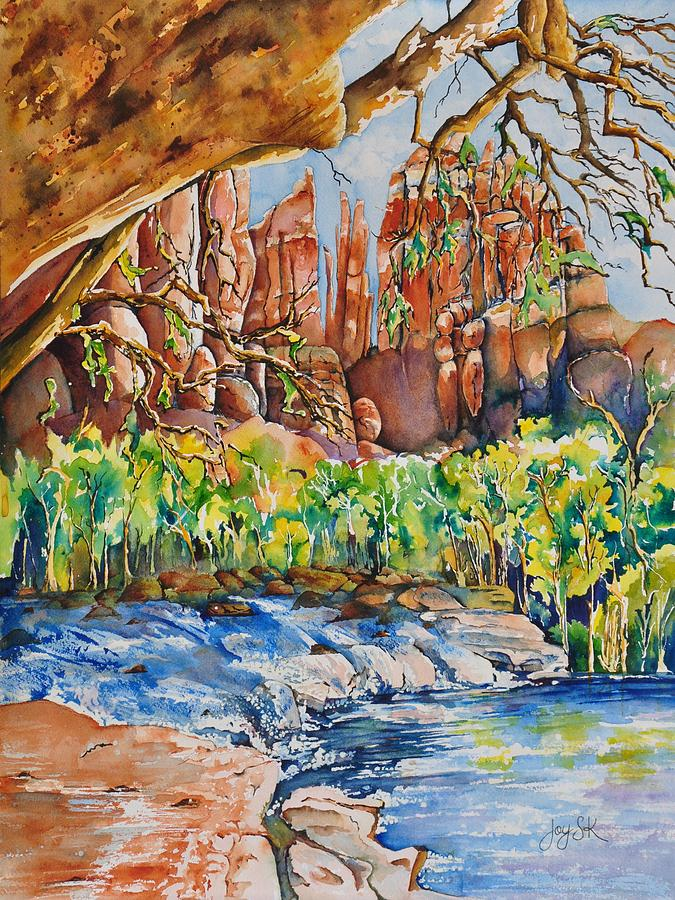 Southwest Painting - Sedona - Cathedral Rock by Joy Skinner