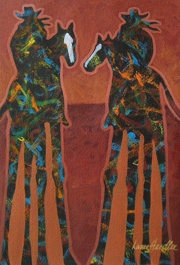 Minimal Painting - Sedona Sundown by Lance Headlee