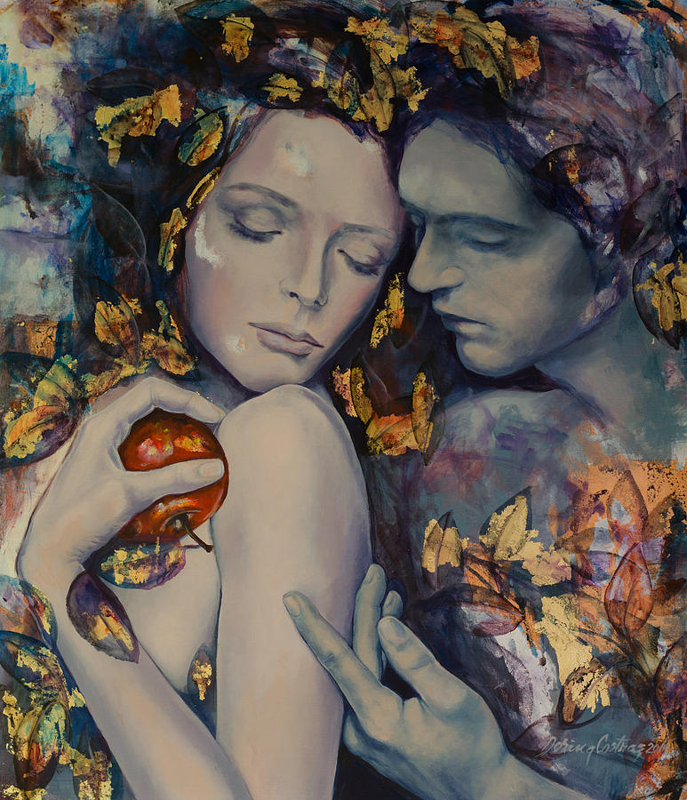 Painting Painting - Seduction by Dorina  Costras