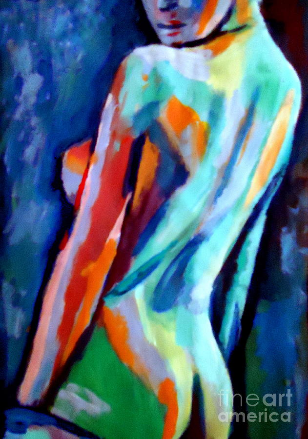 Abstract Nudes Painting - Seduction by Helena Wierzbicki