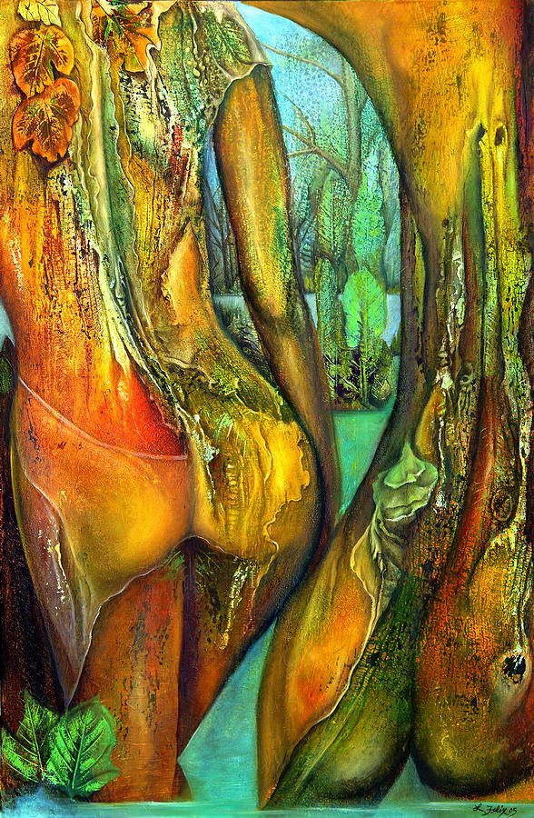 Nude Painting - Seductive Limbs by Lori Felix
