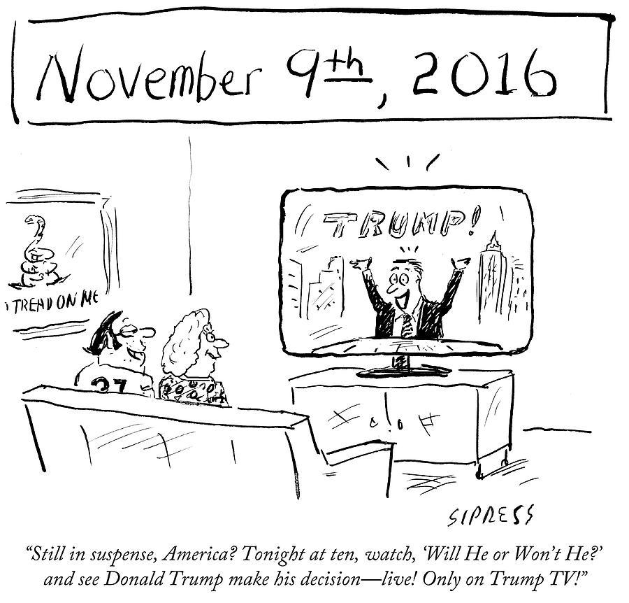 See Donald Trump Make His Decision Drawing by David Sipress