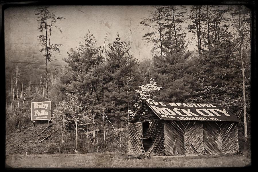Barn Photograph - See Rock City  by Debra and Dave Vanderlaan