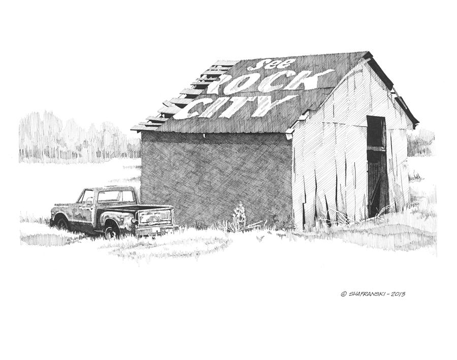 Pen And Ink Drawing - See Rock City by Paul Shafranski