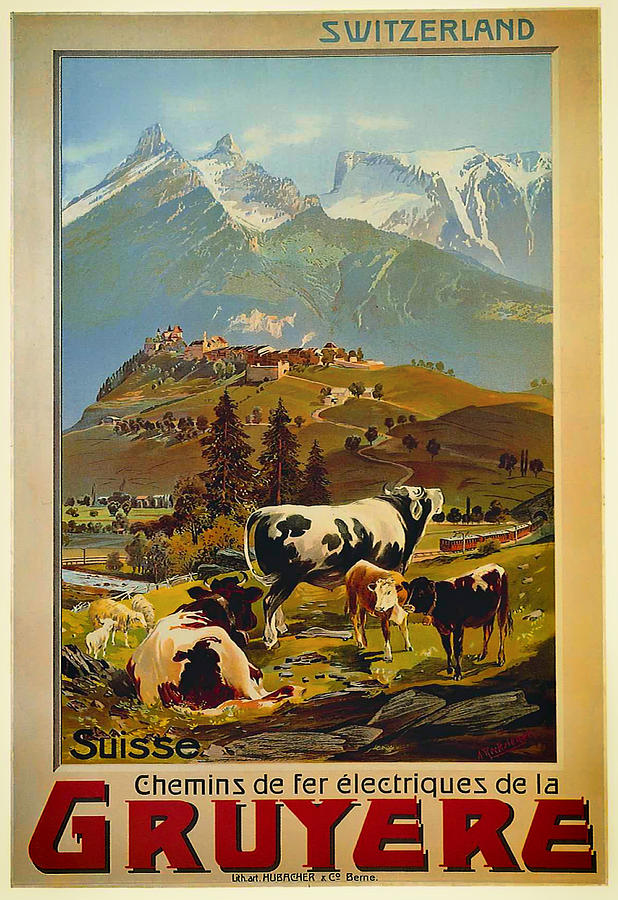1906 Drawing - See Switzerland 1906 by Mountain Dreams
