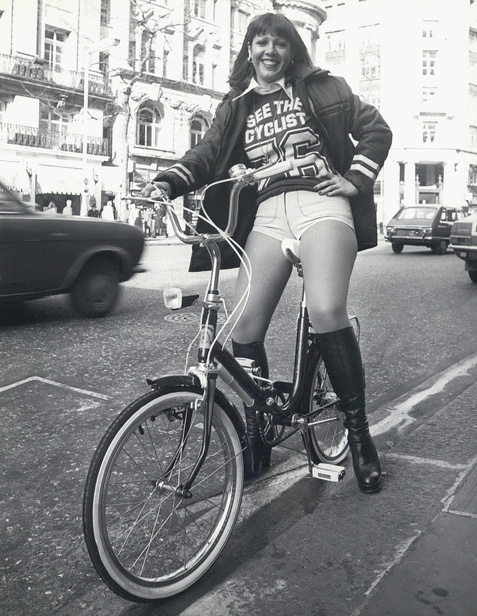 Retro Photograph - See The Cyclist �76 Campaign by Retro Images Archive