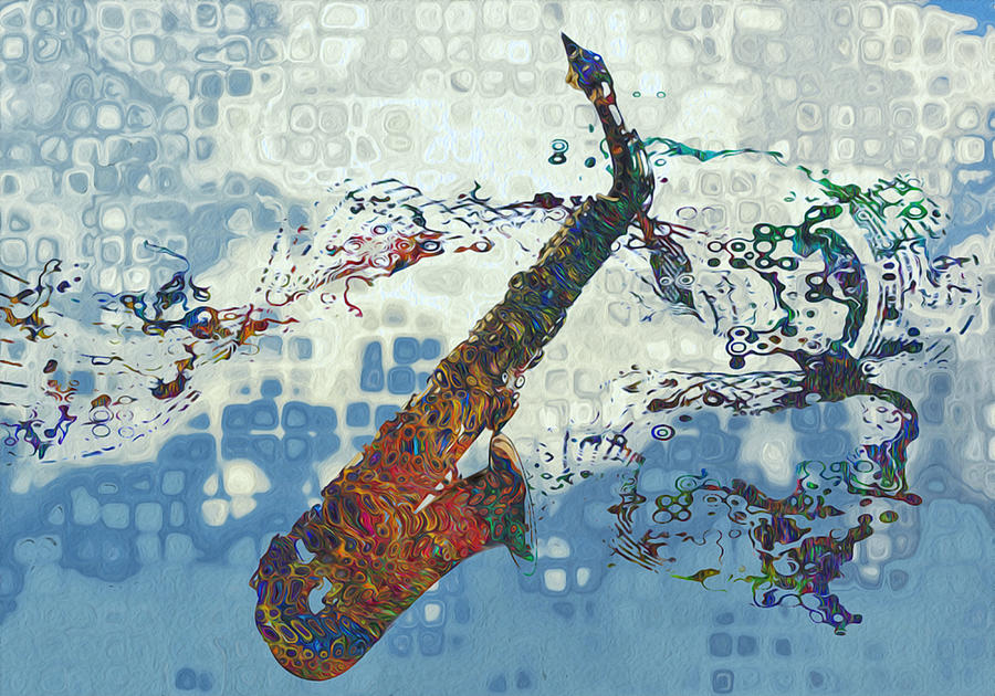 Saxophone Painting - See The Sound 2 by Jack Zulli