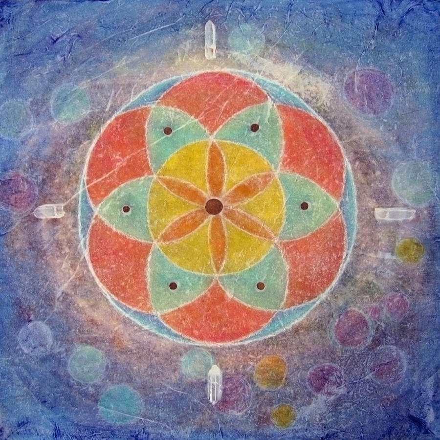 Seed of Life Mandala by Janelle Schneider