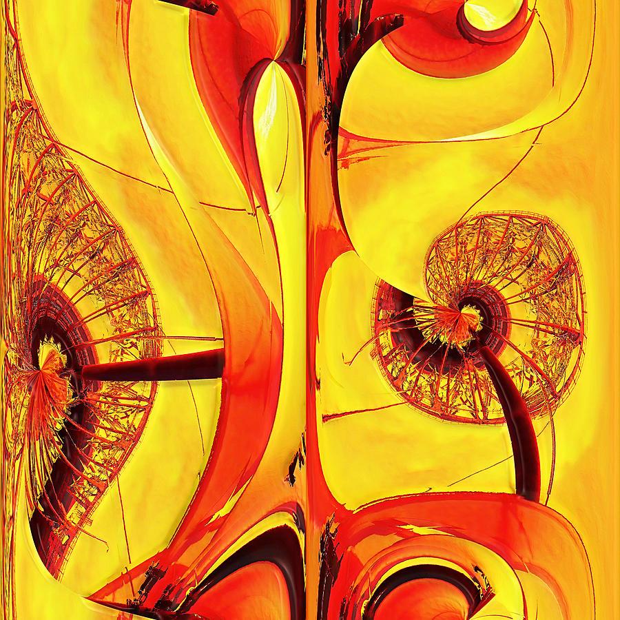 Abstract Digital Art - Seedlings by Wendy J St Christopher