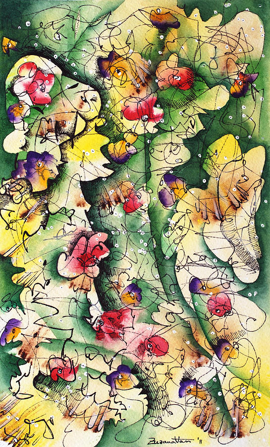 Watercolor Painting - Seeds Of Creation by Zuzana Vass