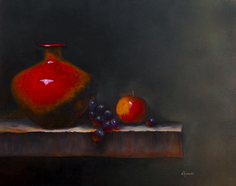 Vase Painting - Seeing Red by Gina Cordova
