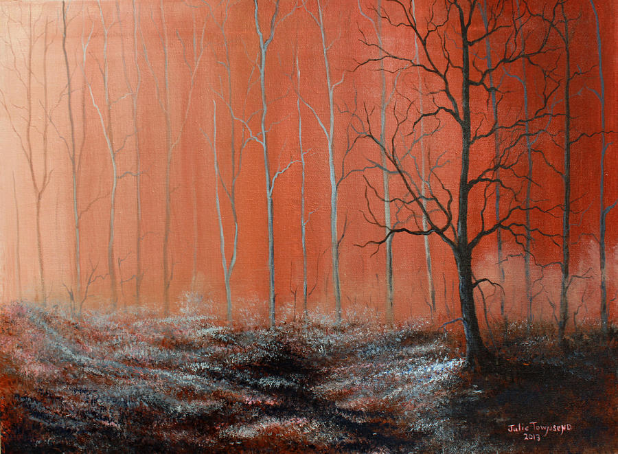 Tree Painting - Seeing Shades Of Red by Julie Townsend