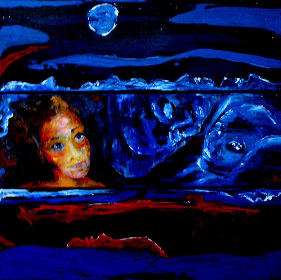 Dream Painting - Seeking Sleep Trilogy by Kathy Peltomaa Lewis