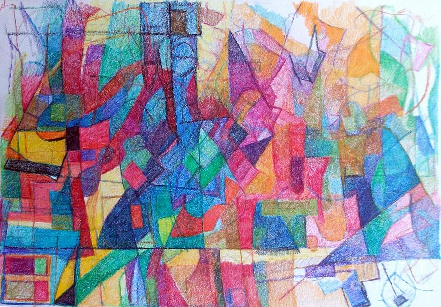 Torah Drawing - Seeking The Path To The Next World 1 by David Baruch Wolk
