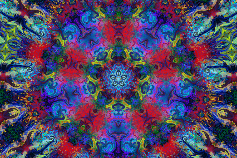 Abstract Digital Art - Seeking The Source by Peggy Collins