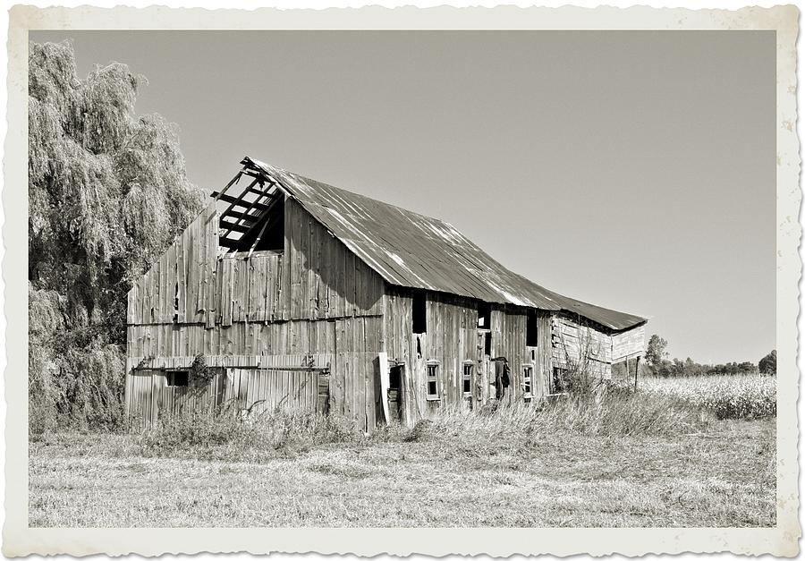 Barn Photograph - Seen Better Days by Valerie Kirkwood