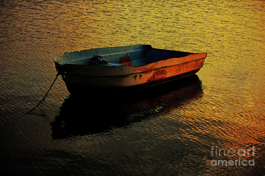 Old Boat Photograph - Seen Her Best Days by Olahs Photography