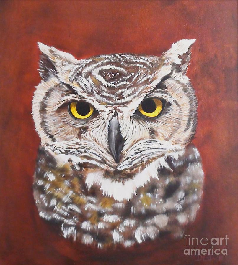 Owl Painting - Seer by Dixie Jack