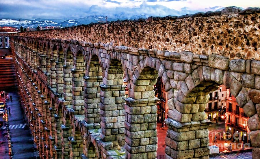 Segovia Photograph - Segovia Aqueduct Spain By Diana Sainz by Diana Sainz