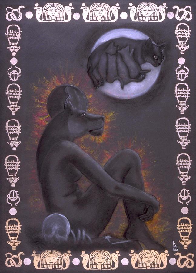 Goddess Mixed Media - Sekhmet And Bastet by Diana Perfect