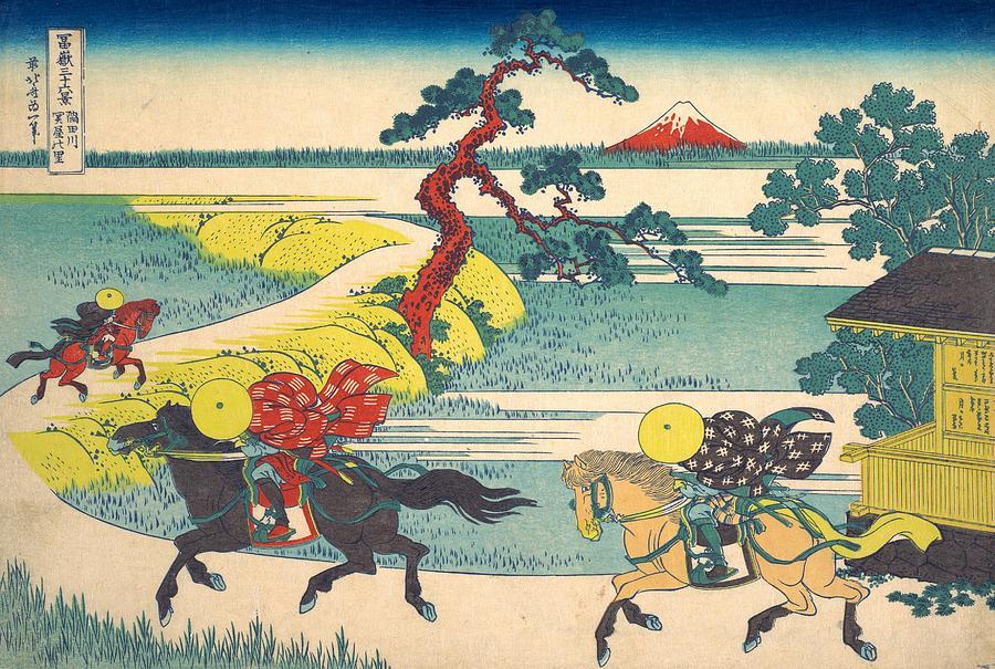 Sekiya Village On The Sumida River Painting By Katsushika Hokusai