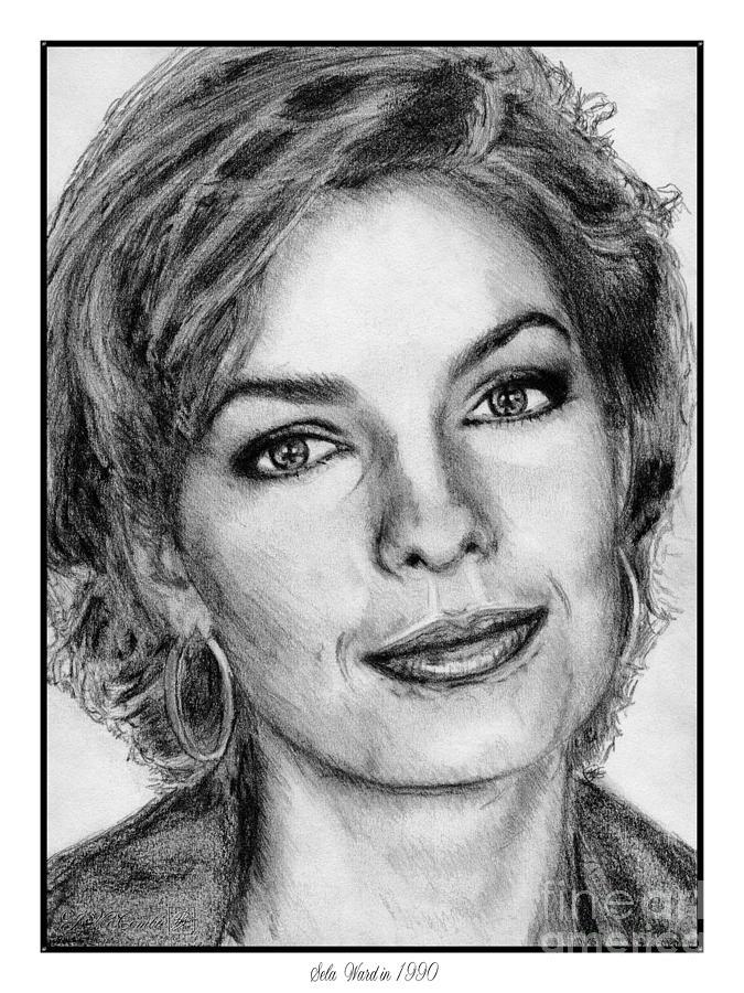 Sela Ward Drawing - Sela Ward In 1990 by J McCombie
