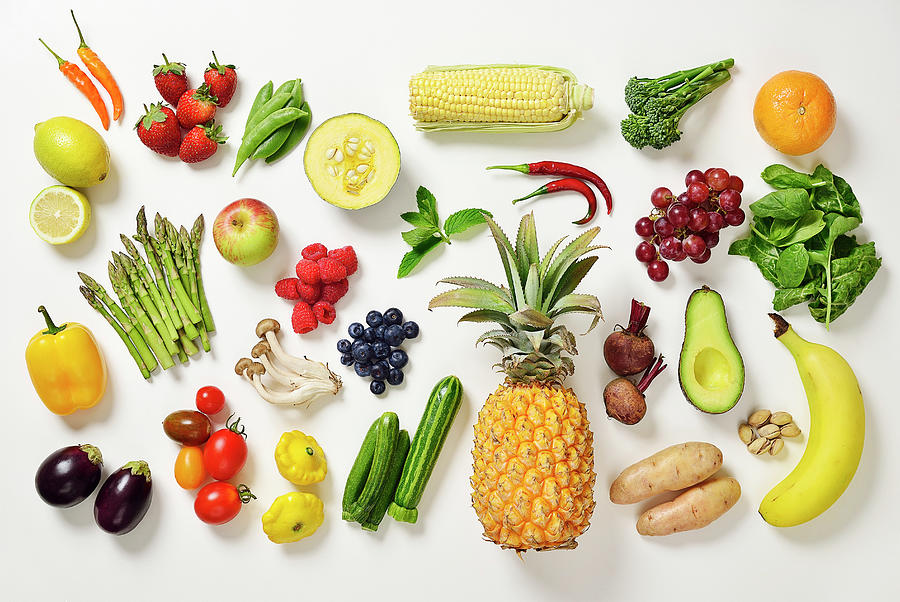 Selection Of Fruit And Vegetables Photograph by David Malan
