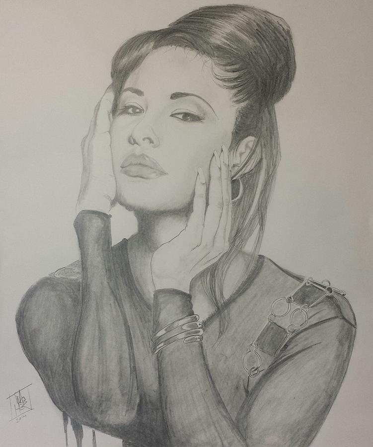 Selena Drawing By Dmo Herr