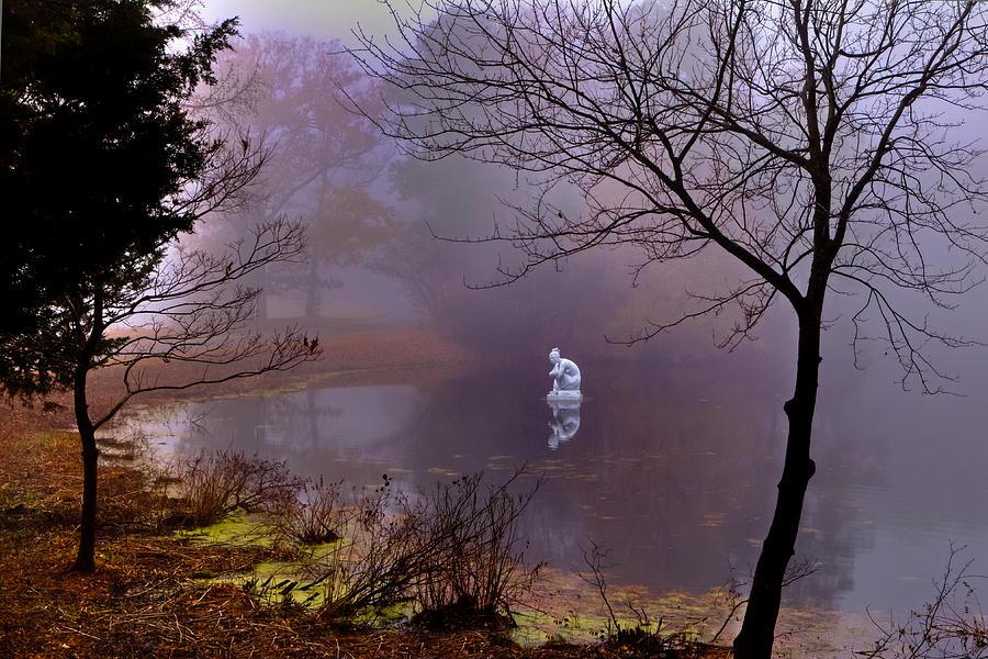 Fog Photograph - Selene Moon Goddess Fogged In by Jerry Gammon