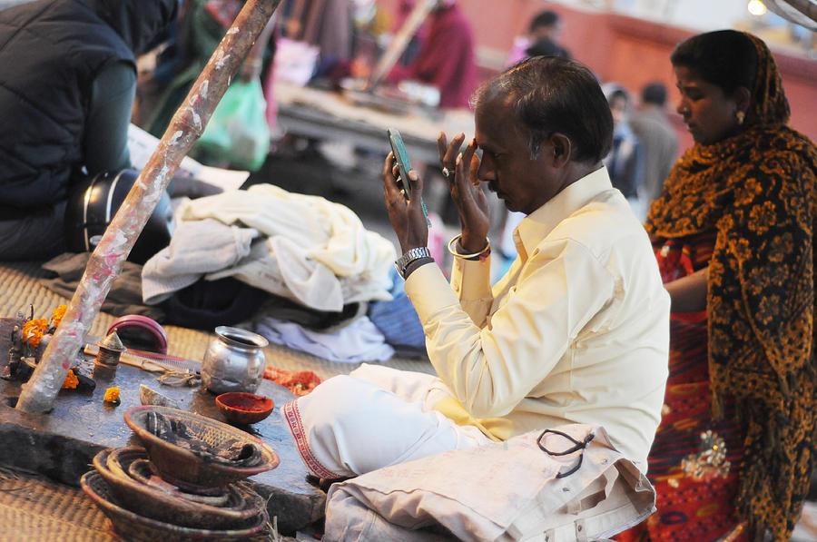 India Photograph - Self Decoration by Money Sharma
