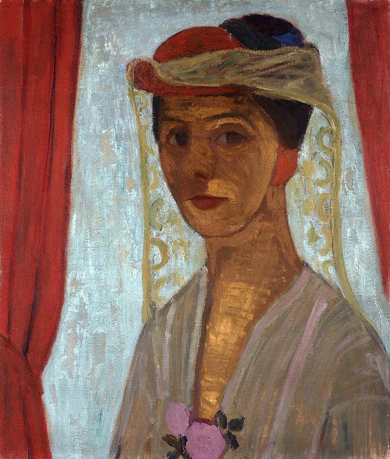Female Painting - Self Portrait, 1906-7 by Paula Modersohn-Becker