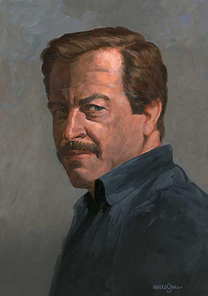 Self portrait 1984 Painting by Harold Shull