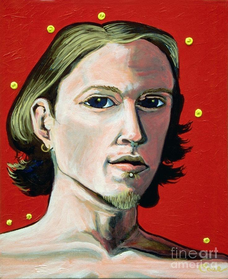 Artist Painting - Self Portrait 1995 by Feile Case