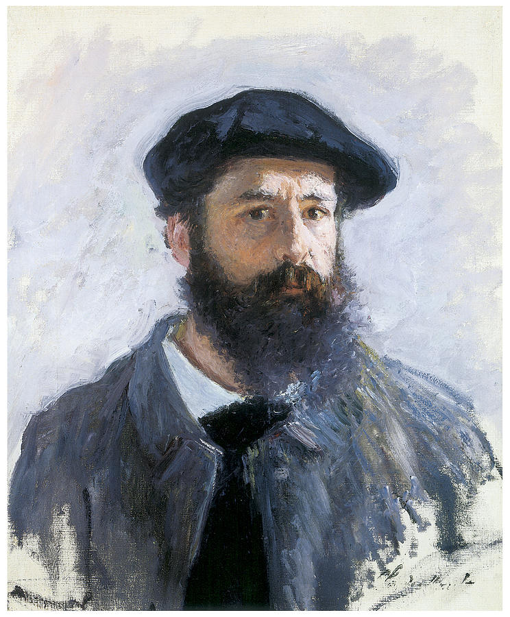 Self-portrait Painting - Self-portrait by Claude Monet