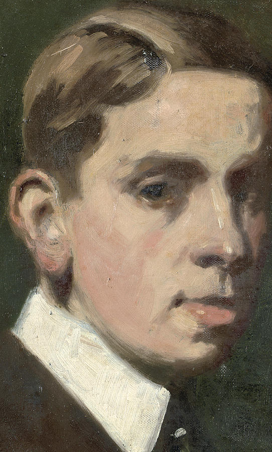 Self Portrait Painting - Self Portrait by Francis Campbell Boileau Cadell