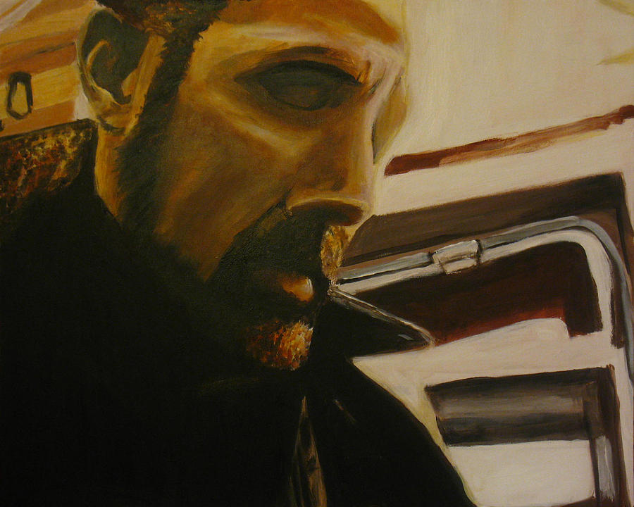 Frank Painting - Self Portrait by Frank Troy