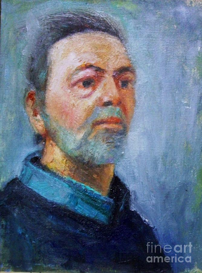 Portraits Painting - Self Portrait by George Siaba