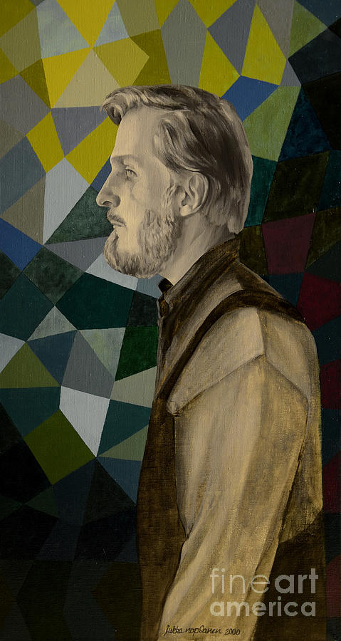 Self Portrait Painting - Self Portrait by Jukka Nopsanen