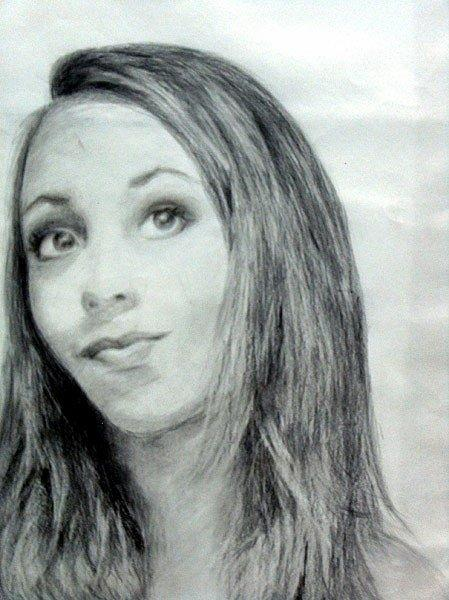 Self Portrait Drawing by Lauren  Pecor