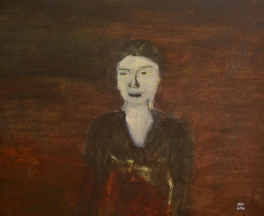 Portrait Painting - Self-portrait by Min Zou