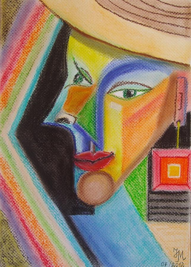 Soft Pastel Pastel - Self-portrait by Nina Mitkova
