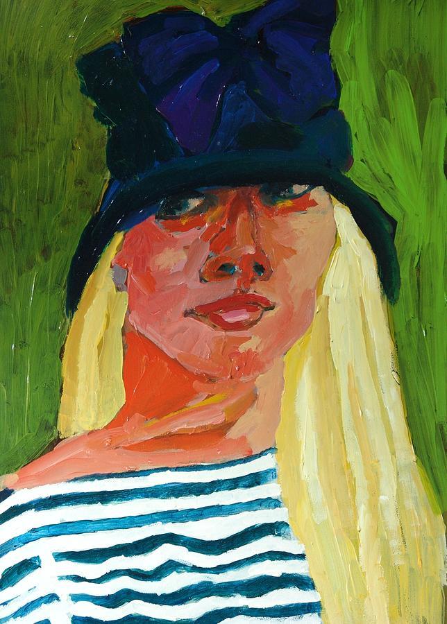Janet Mixed Media - Self-portrait No . 1 by Janet Ashworth
