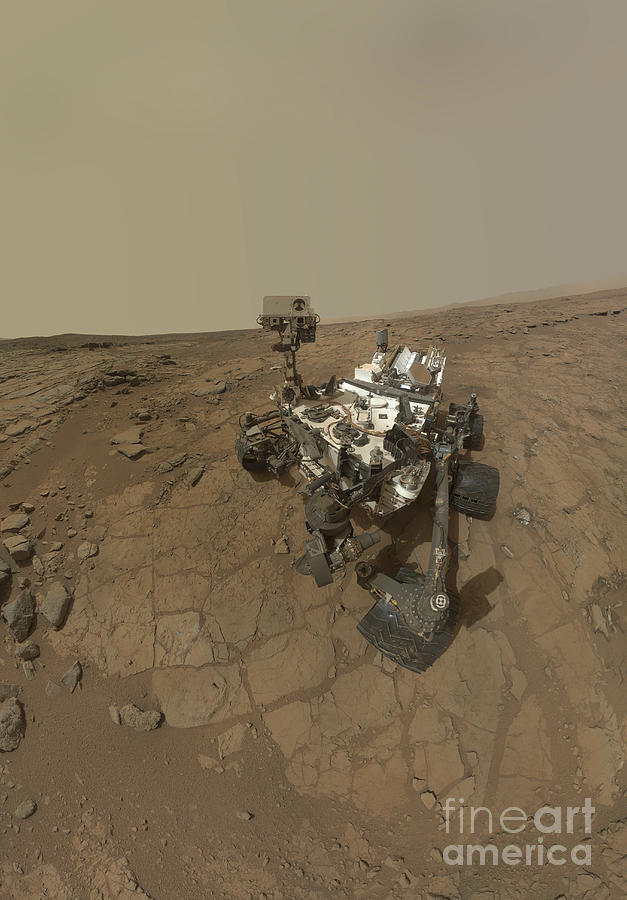 Vertical Photograph - Self-portrait Of Curiosity Rover by Stocktrek Images