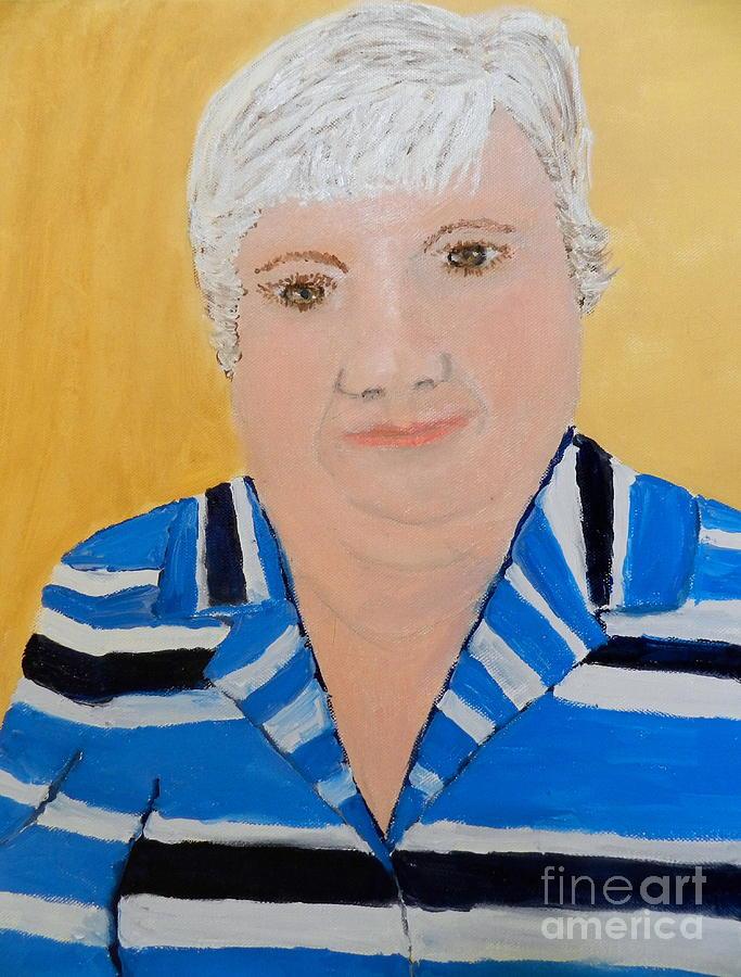 Portrait Painting - Self Portrait by Pamela  Meredith