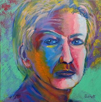 Portrait Painting - Self Portrait by Peter Bonk