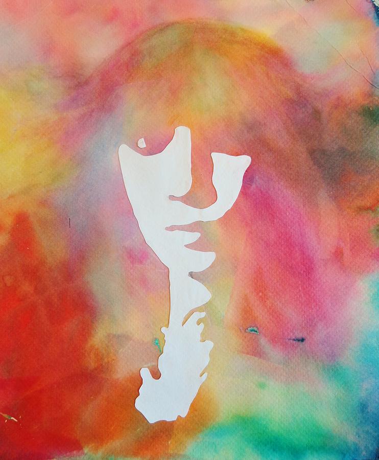 Tissue Painting - Self Portrait by Savanna Paine